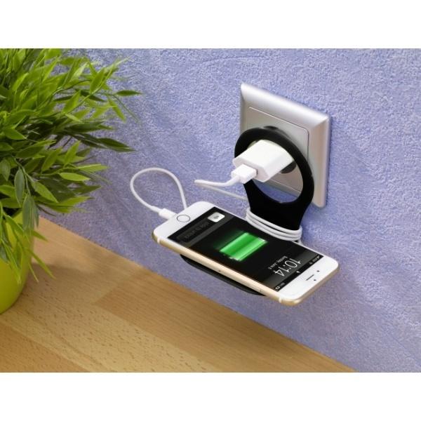 Suport alb telefon mobil pentru incarcare