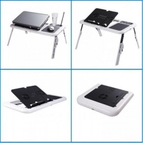 E-Table: cooler laptop cu USB si masuta reglabila