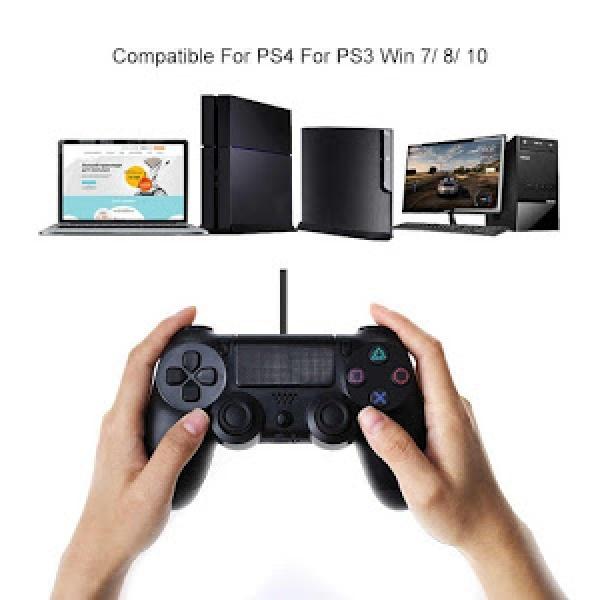 Gamepad cu fir DOUBLESHOCK pentru Playstation 4 cu vibratii