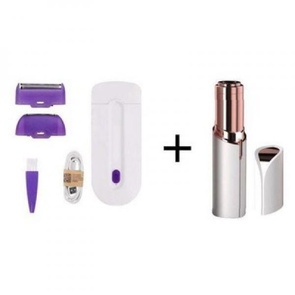 Pachet cosmetic complet: epilator Sensa Light + trimmer flawless