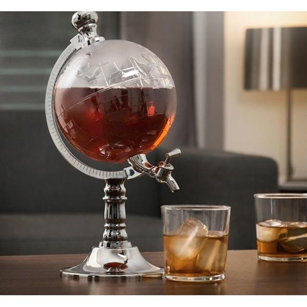 Dozator pentru bauturi forma de glob pamantesc , capacitate 3 L