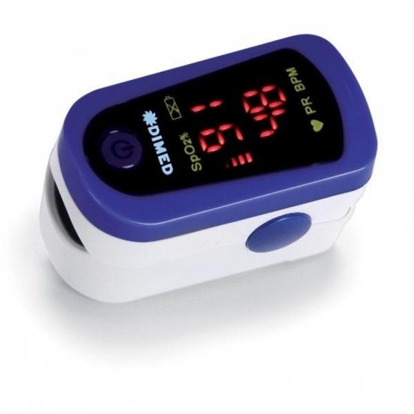 Puls Oximetru cu display LED, pentru masurare puls si oxigenul din sange,Menton, albastru