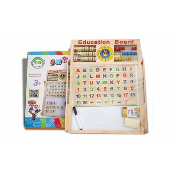 Tabla educativa multifunctionala pentru copii 40 x 40 cm
