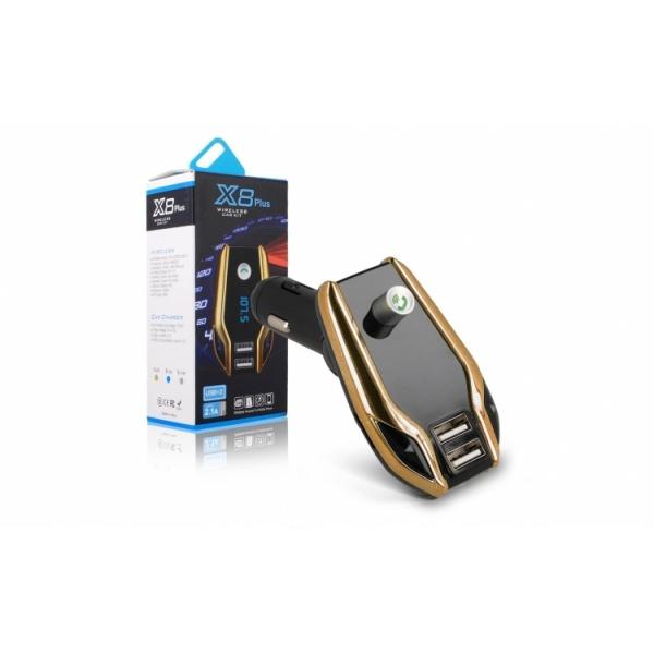 Car Kit Auto Bluetooth cu functie de modulator FM, model X8 PLUS