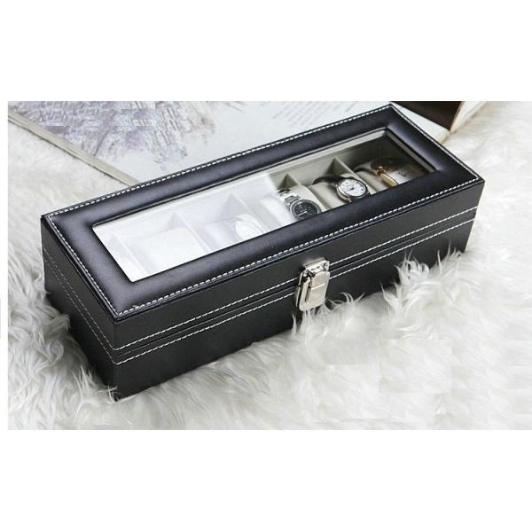 Cutie depozitare 6 ceasuri. Material piele ecologica
