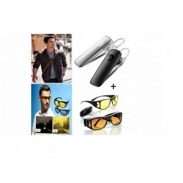 Casca Bluetooth + Set 2 perechi ochelari de condus