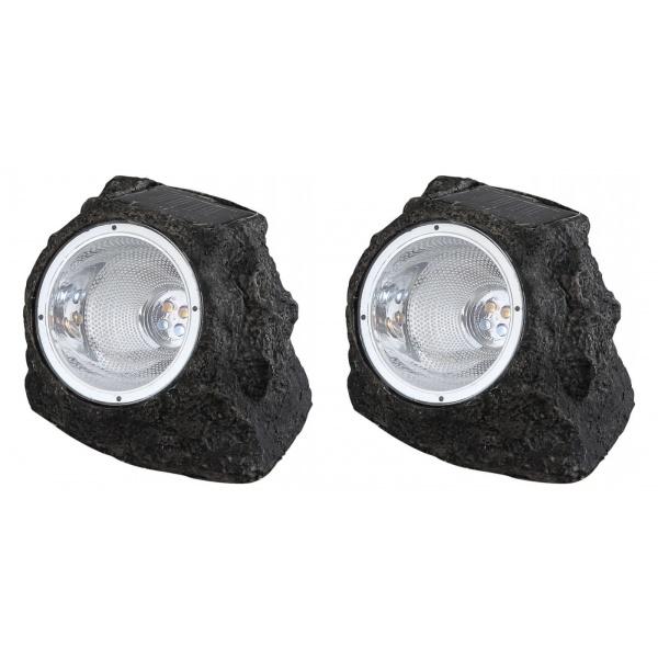 Set 2x lampa solara led in forma de piatra