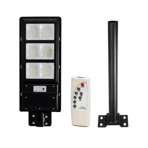 Lampa stradala  120W cu senzor de lumina, telecomanda, suport de prindere