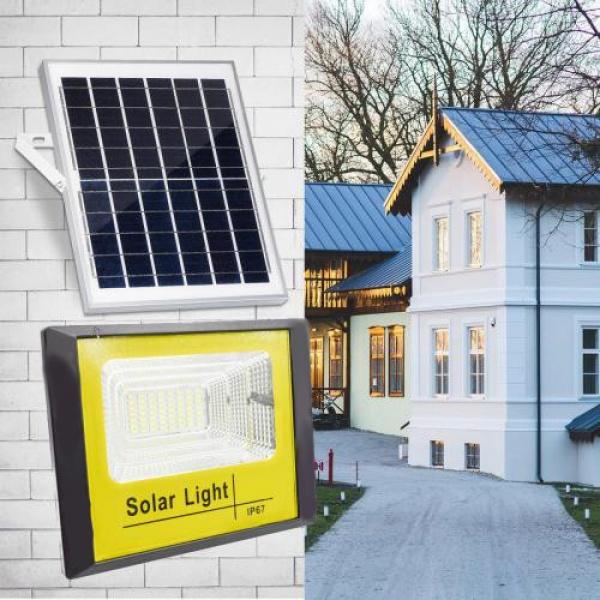 Proiector 60 W cu panou solar si telecomanda