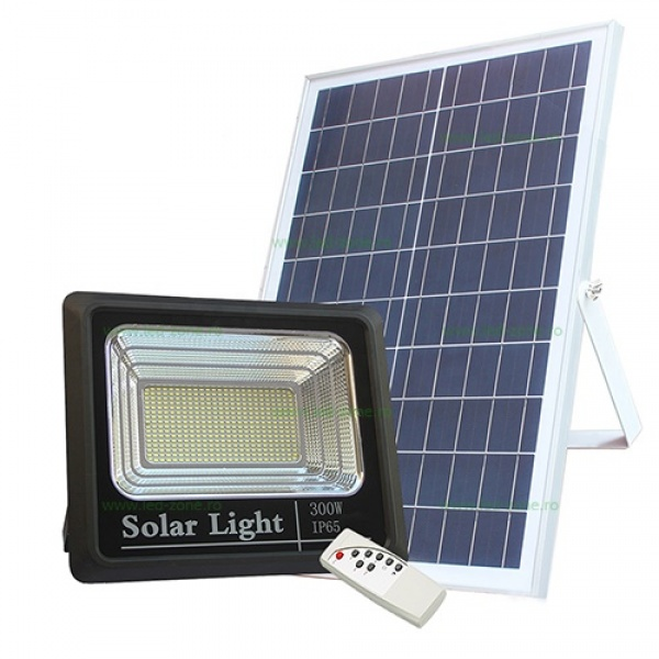 Proiector 300W LED SMD, Panou Solar si telecomanda cu functii multiple