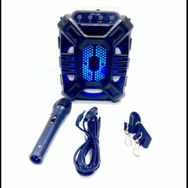 Boxa portabila KTX-1222 cu microfon, conectare Wireless, USB, bluetooth, Micro SD, radio FM, Aux, sunet Puternic