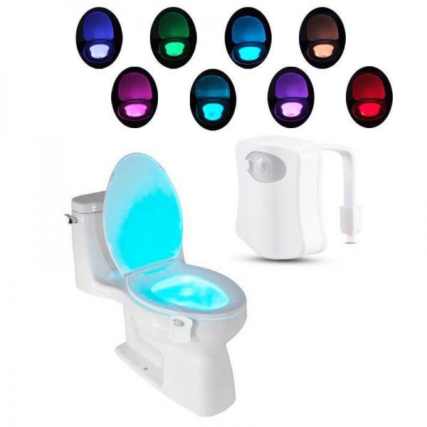 Dispozitiv LED pentru vasul de toaleta cu senzor infrarosu, consum scazut de energie