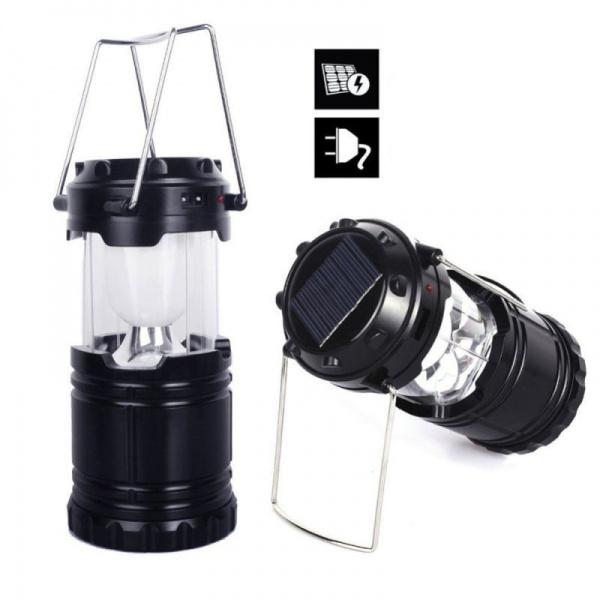 Lampa solara reincarcabila, camping! Folosita si pentru a incarca telefonul sau alte dispozitive!