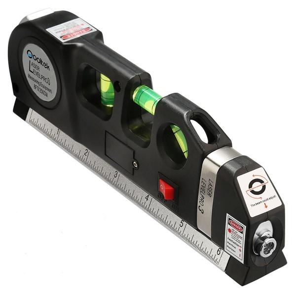 Nivela-boloboc multifunctionala cu raza laser si ruleta incorporata