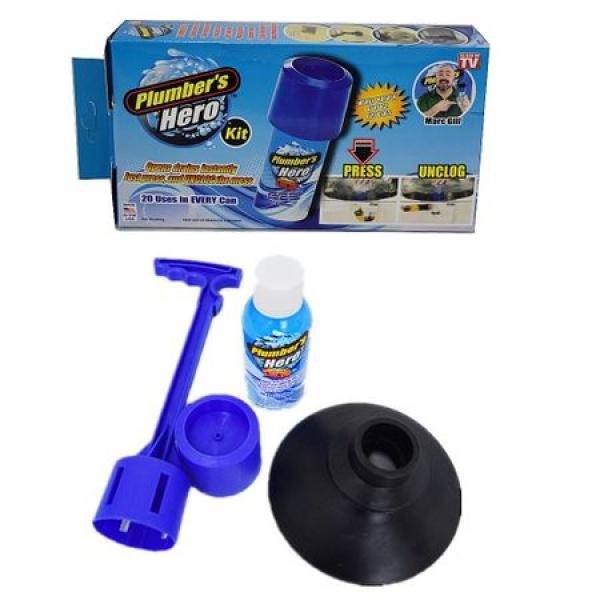 Dispozitiv pentru desfundat scurgerile Plumber's Hero