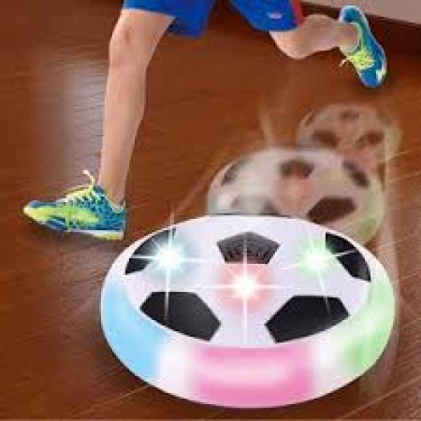 Minge de fotbal rotativa tip disc cu aer, muzica si lumini