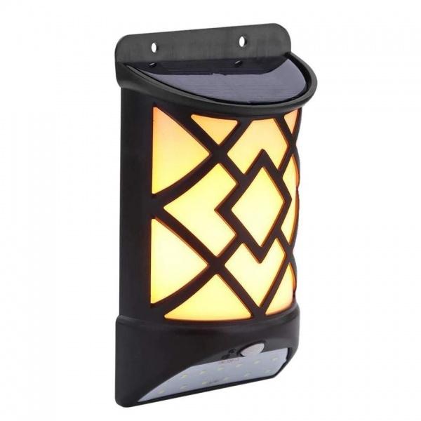 Lampa solara cu senzor miscare MX 12 LED, efect flacara