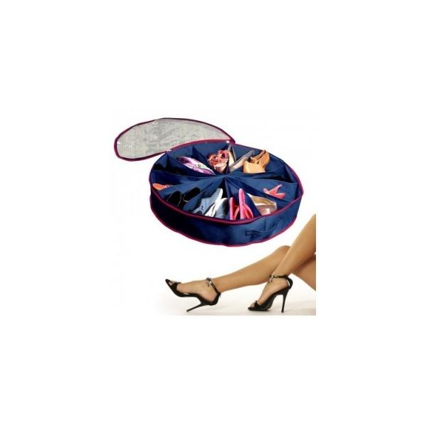 Organizator rotund cu 12 compartimente pentru pantofi sau accesorii