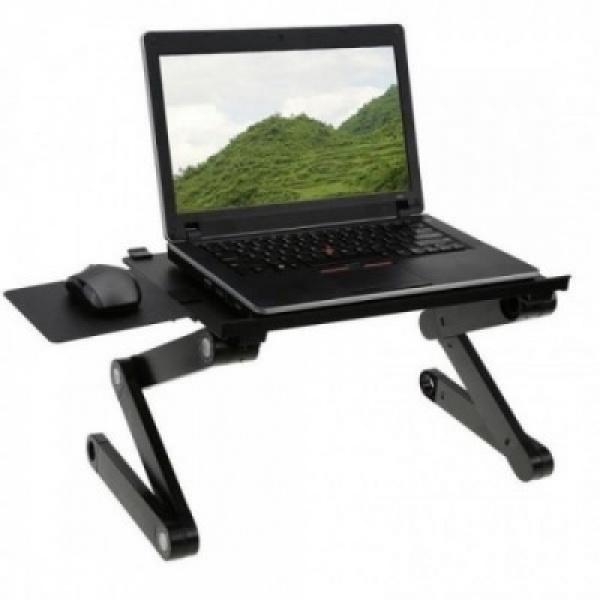 Masa laptop multifunctionala T8, reglabila, 2 ventilatoare