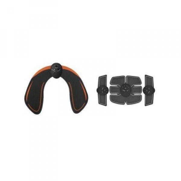 Aparat de fitness EMS + Centura Smart pentru tonifiere abdomen, brate si fesieri